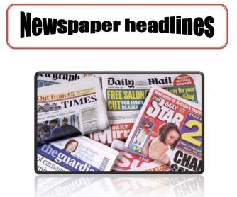 Newspaper Headlines Worksheet