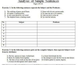 Analysis of Simple Sentences and Adverbial Qualification