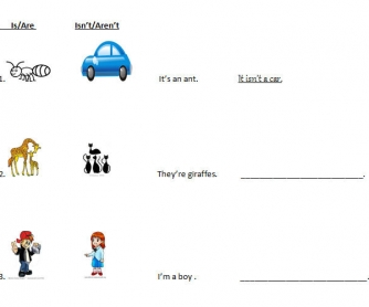 TO BE & A/AN Worksheet