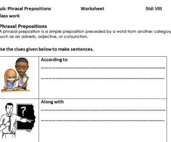 Phrasal Prepositions