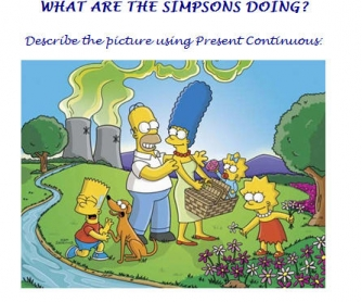 What Are The Simpsons Doing? Present Progressive Worksheet