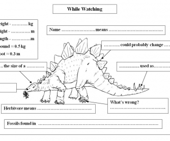 Stegosaurus: While-watching Activity