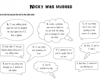Nicky Was Mugged: Past Continuous Practice