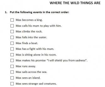 Where the Wild Things Are: Guided Writing Worksheet