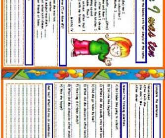 Past Simple Through Reading Worksheet II