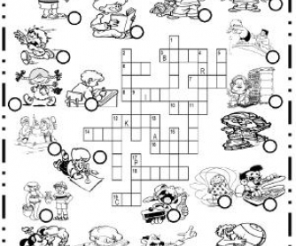 Action Verbs Picture Crossword