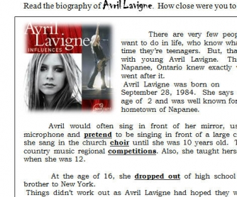 Avril Lavigne's Biography
