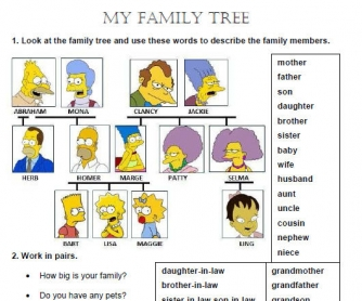 My Family Tree Worksheet