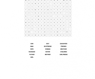 People and Family Word Search