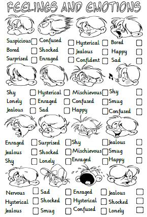 Managing emotions worksheet pdf