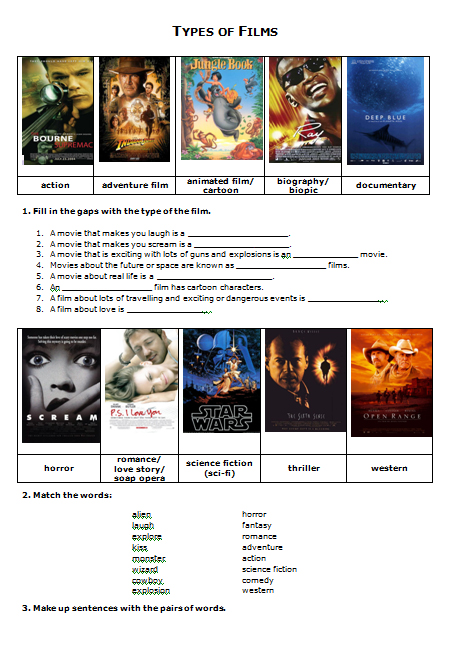 types of movies