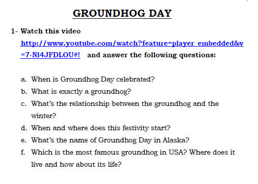 photograph relating to Free Printable Groundhog Day Worksheets named 5 Cost-free Groundhog Working day Worksheets