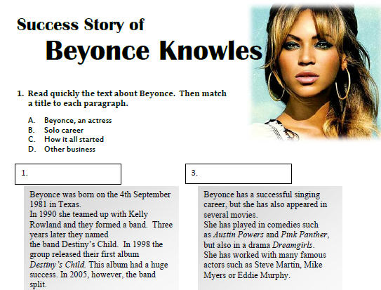 Beyonce S Success Story
