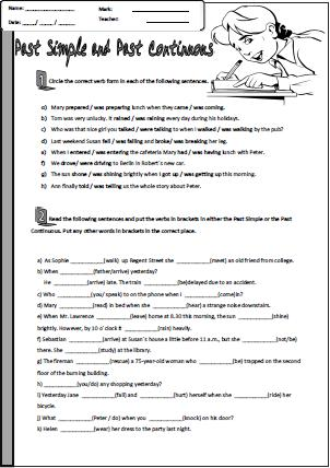 Present and past tense worksheets grade 2