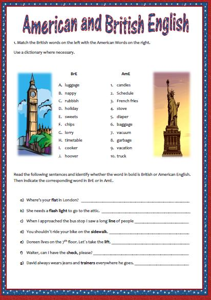 difference between british and american english grammar pdf