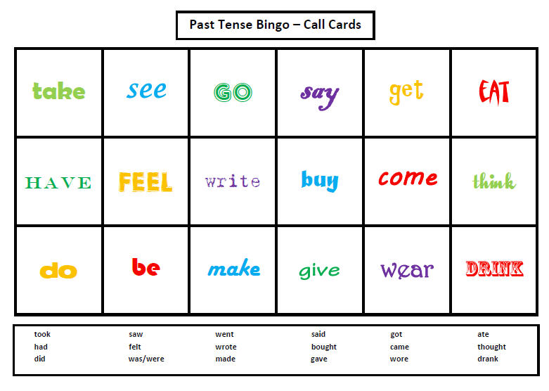 Listening Bingo Games Print Outs For Kids