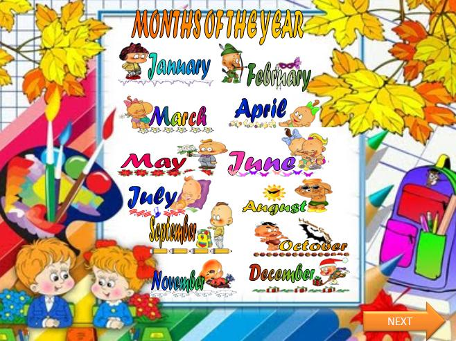 Months Of The Year Powerpoint Presentation