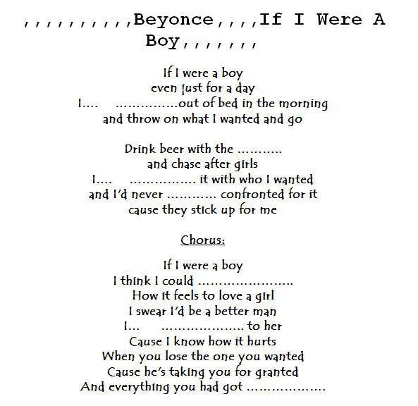 Beyoncé – If I Were A Boy | English Video Lessons