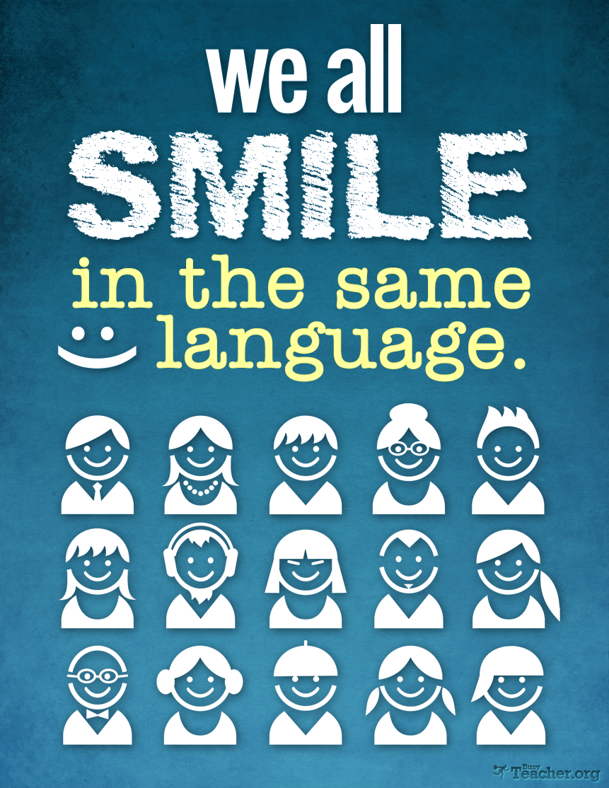 We All Smile In The Same Language: Poster