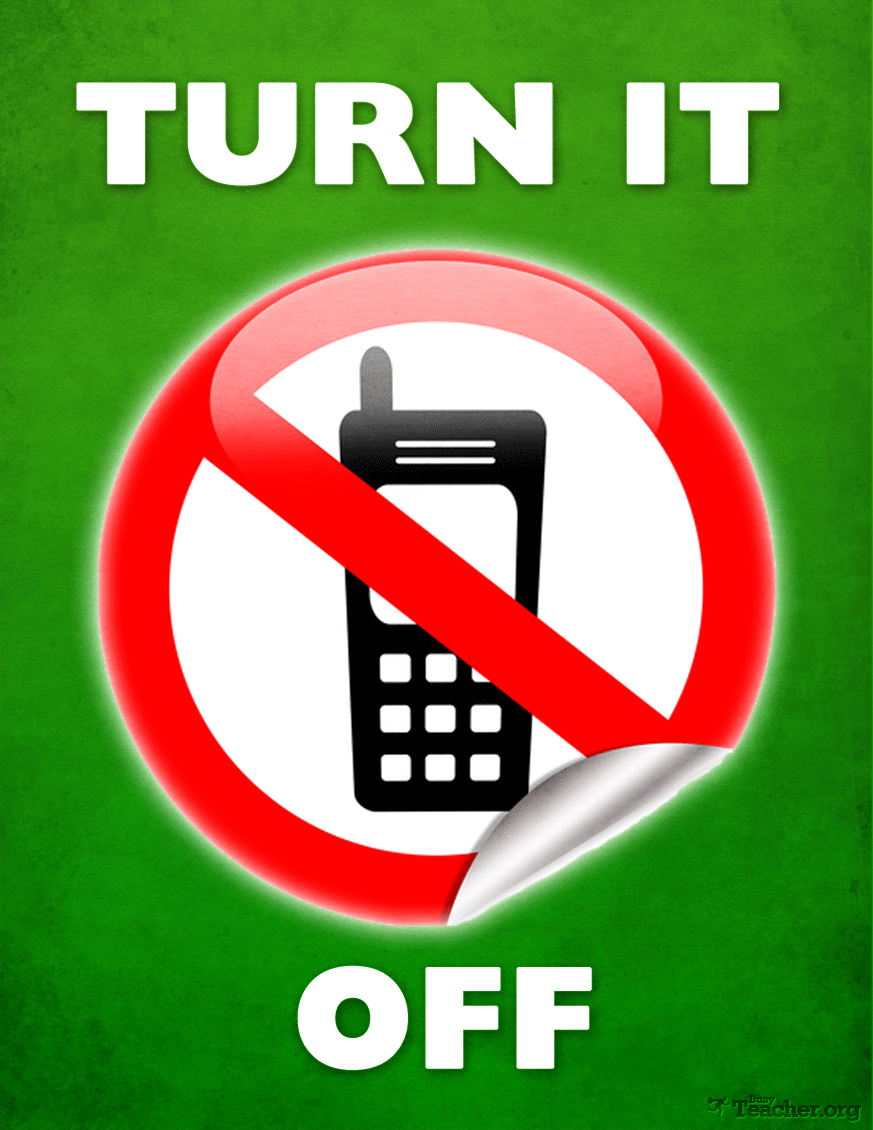 POSTER: Turn Your Cell Phone OFF