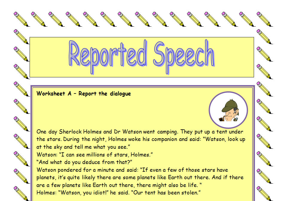 reported speech activity
