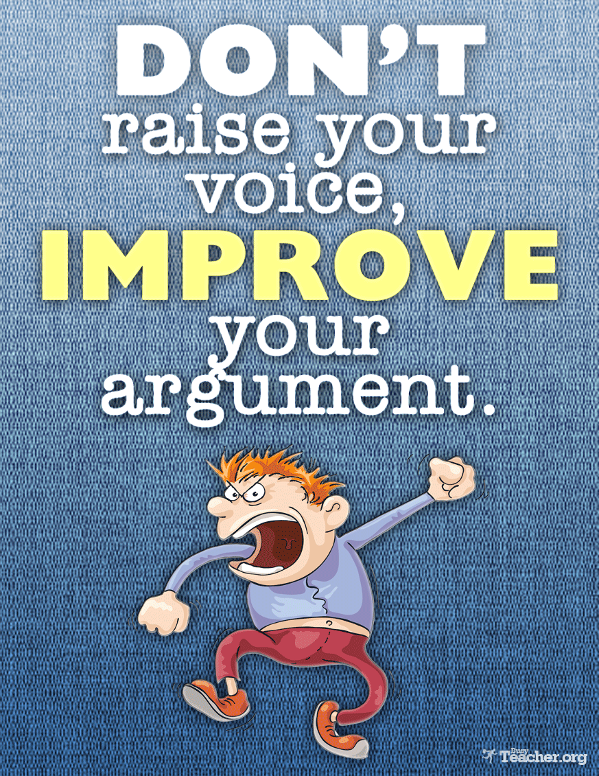 POSTER: Don't Raise Your Voice