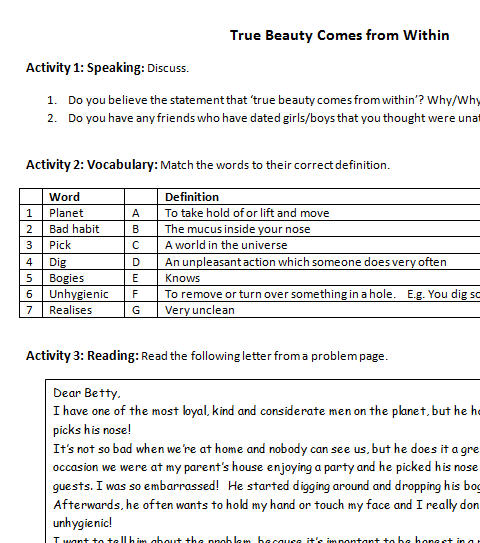Ought Toshouldshouldnt Modals Beauty Worksheet
