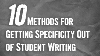 An Issue for Society: Getting More Specificity Out of Writing