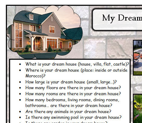 essay on my house for kids