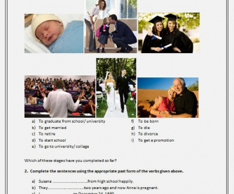 Stages Of Life: Past Experience Worksheet