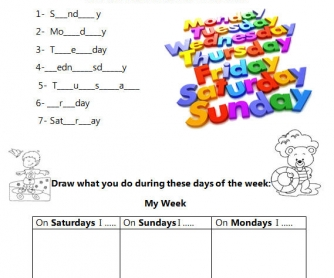 Practicing Days of the Week
