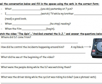 Video Worksheet: God Created The DJ