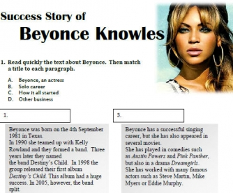 Beyonce's Success Story
