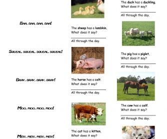 What Do Animals Say? (A Poem For Kids)