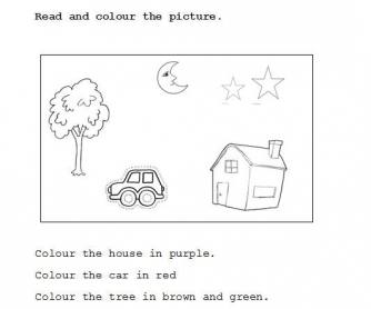 Information Gap Worksheet: Colours