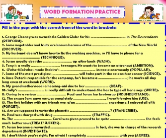 Word Formation Activity