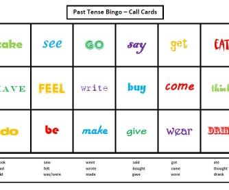 Past Simple Bingo 1