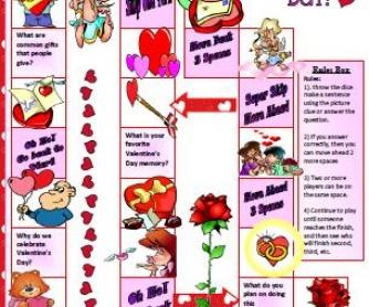 St. Valentine's Day Boardgame