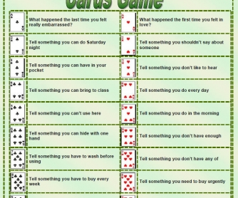 Conversation Cards Game