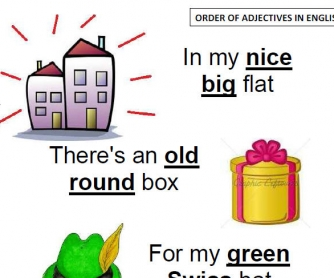 Order of Adjectives with a Rhyme