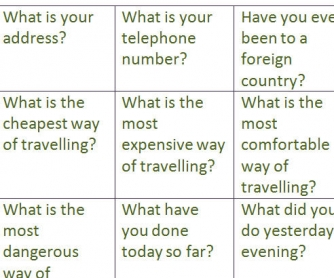 Warm-up With Different Tense Questions