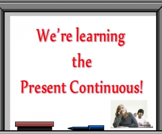 Present Continuous PowerPoint Presentation