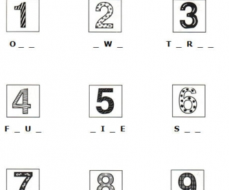 Numbers 1-15