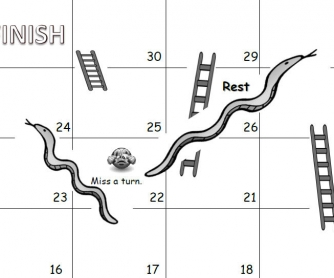 Snakes and Ladders Board Game: Past Simple
