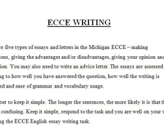 ECCE Writing