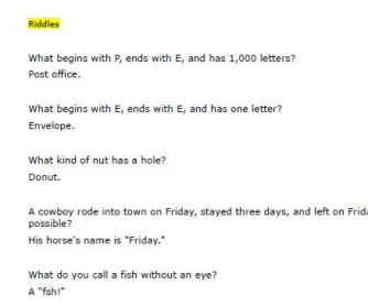 Jokes for ESL Adults