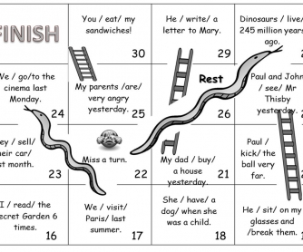 Snakes and Ladders Past Simple