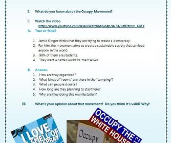 The Occupy Movement Video Lesson