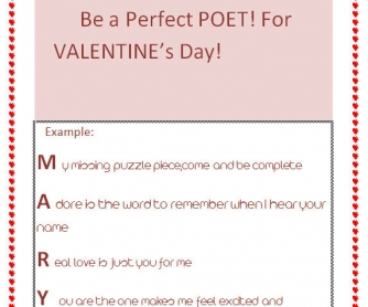 Be A Perfect Poet For Valentine's Day