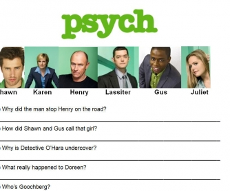 Movie Worksheet: Psych - Scarry Sherry